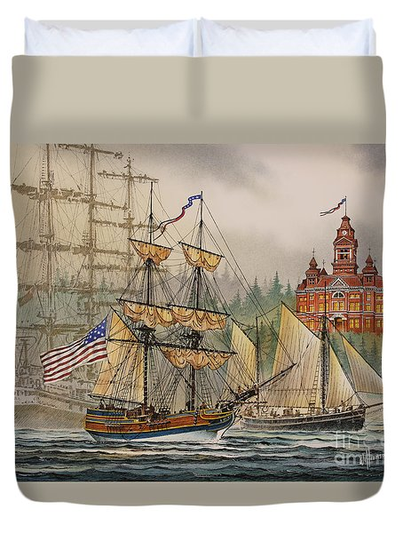 Our Seafaring Heritage Duvet Cover by James Williamson