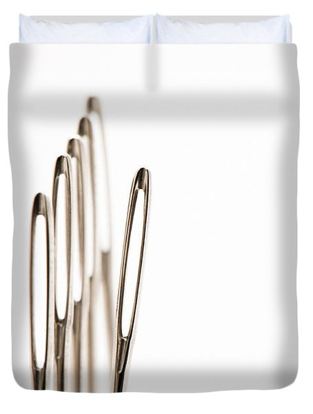 Out Of Line Duvet Cover by Anne Gilbert