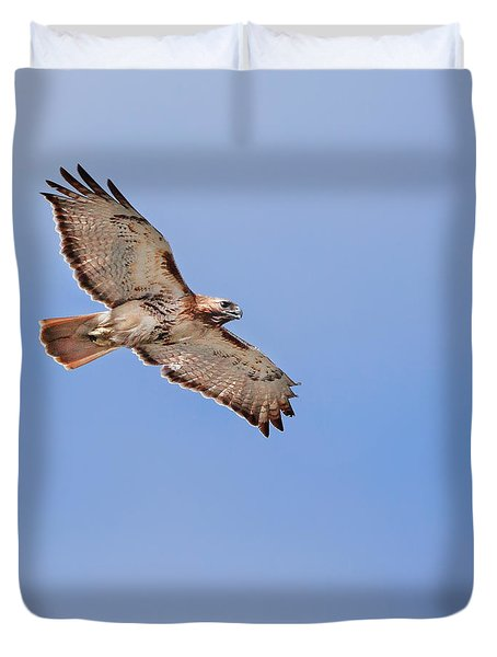 out of the blue square Duvet Cover by Bill  Wakeley