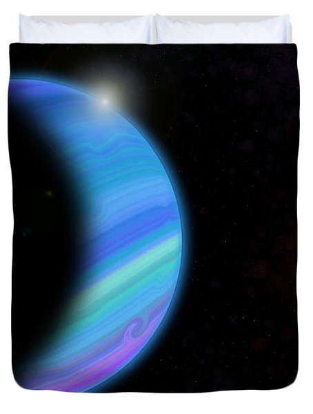 Outer Space Dance Digital Painting Duvet Cover by Georgeta Blanaru