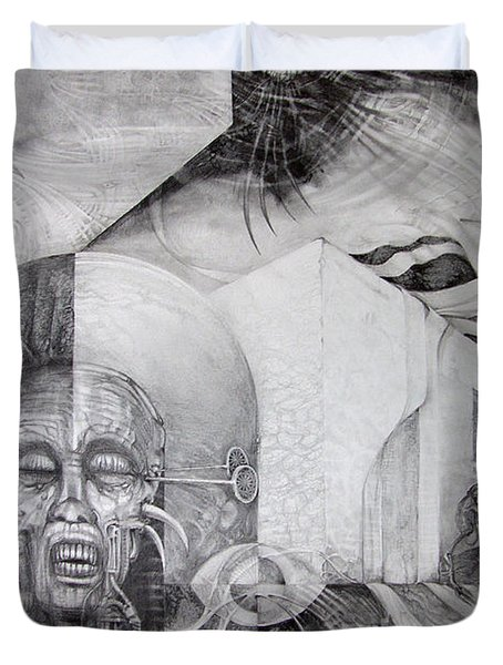 Outskirts Of Necropolis Duvet Cover by Otto Rapp