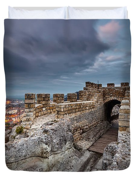 Ovech Fortress Duvet Cover by Evgeni Dinev