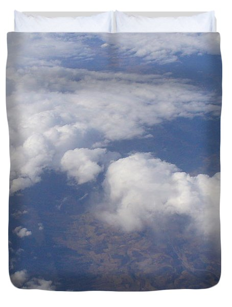 Over The Mountains Duvet Cover by Lingfai Leung