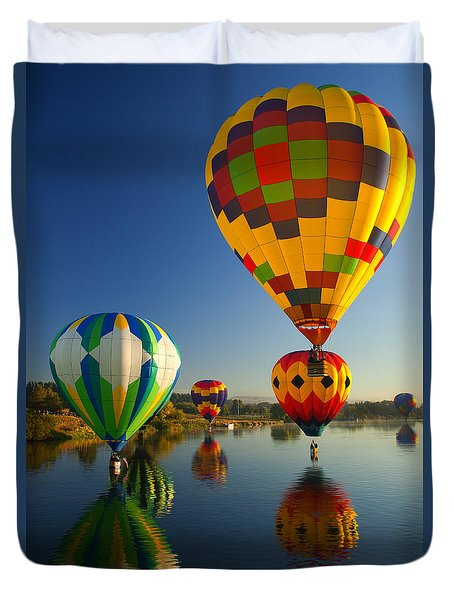 Over The Water Duvet Cover by Mike  Dawson