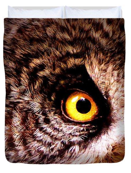 Owl's Eye Duvet Cover by Ramona Johnston