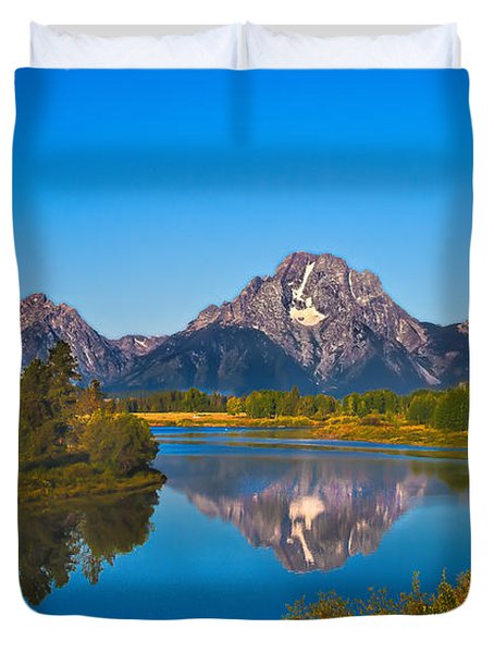 Oxbow Bend II Duvet Cover by Robert Bales