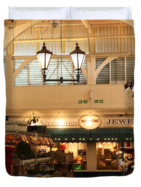 Oxford's Covered Market Duvet Cover by Terri Waters