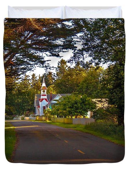 Oysterville Church Framed Duvet Cover by Robert Bales