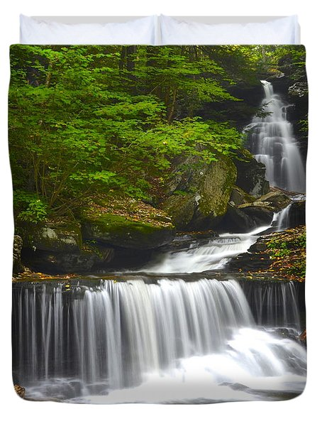 Ozone Falls Duvet Cover by Frozen in Time Fine Art Photography