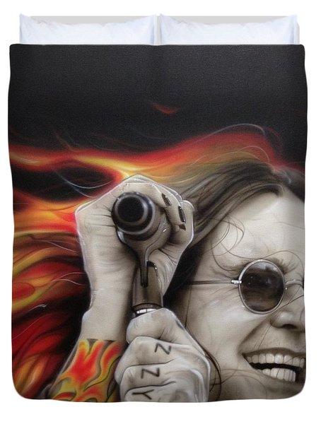 'ozzy's Fire' Duvet Cover by Christian Chapman Art