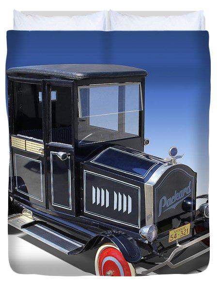 Packard Peddle Car Duvet Cover by Mike McGlothlen
