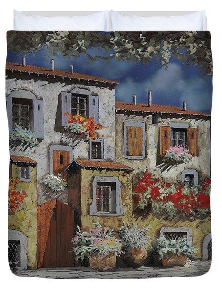 Paesaggio Al Chiar Di Luna Duvet Cover by Guido Borelli