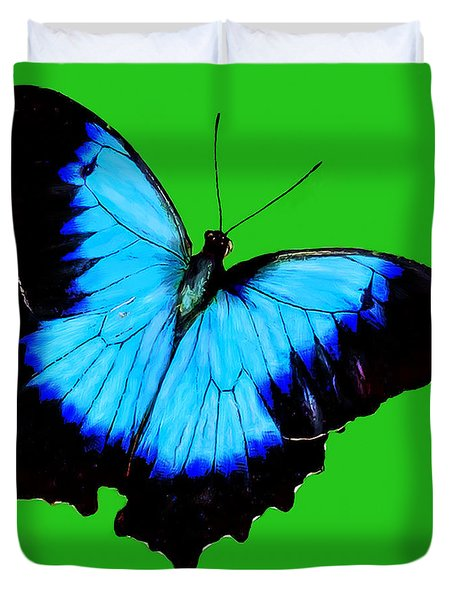Painted Butterfly Duvet Cover by Bob and Nadine Johnston