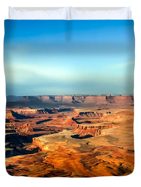 Painted Canyonland Duvet Cover by Robert Bales