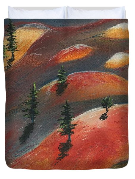 Painted Dunes Duvet Cover by Anastasiya Malakhova
