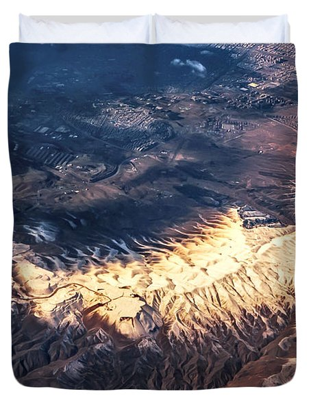 Painted Earth IV Duvet Cover by Jenny Rainbow