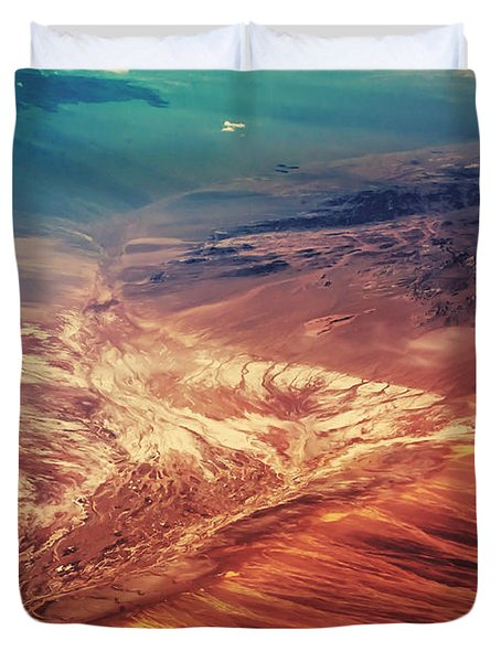 Painted Earth Duvet Cover by Jenny Rainbow