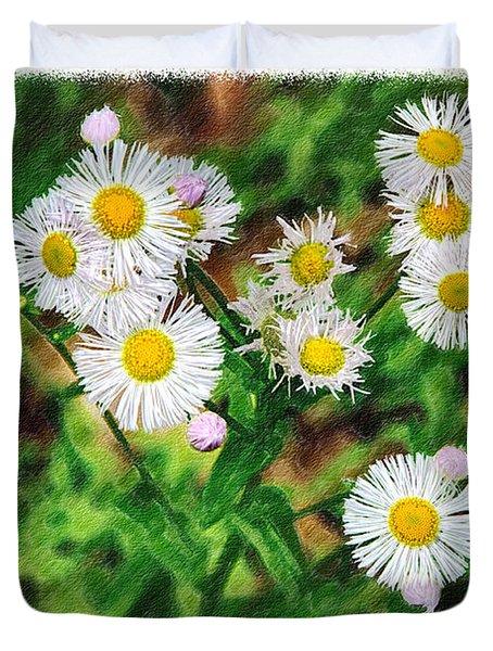 Painted Fleabane Duvet Cover by John Haldane