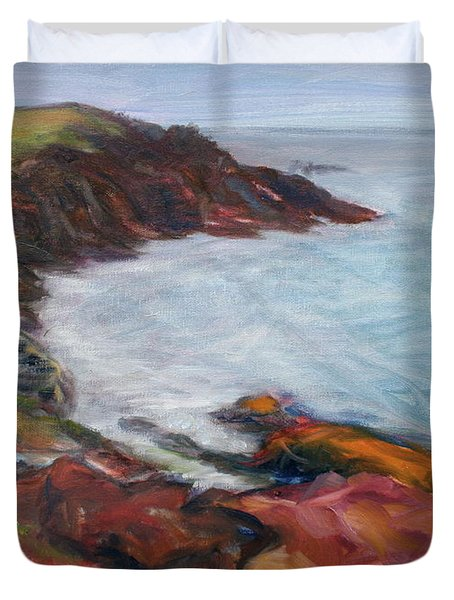 Painterly - Bold Seascape Duvet Cover by Quin Sweetman