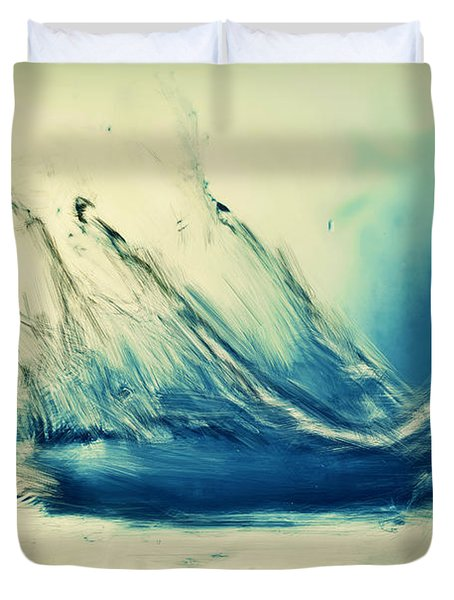 Painting Of Fresh Water Splash Duvet Cover by Michal Bednarek