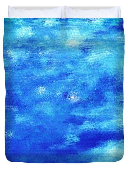Painting Of Water Background Duvet Cover by Michal Bednarek