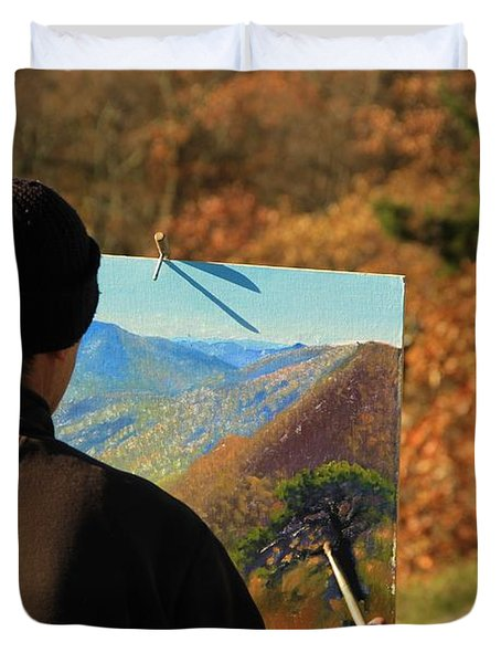 Painting Shenandoah Duvet Cover by Dan Sproul