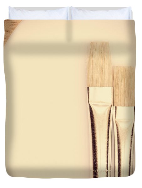 Painting Tools Duvet Cover by Wim Lanclus