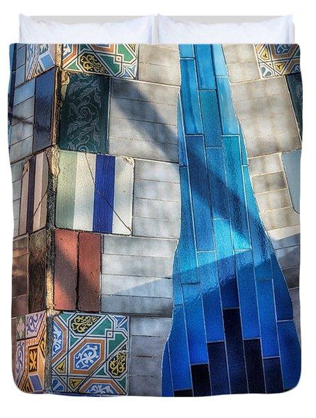 Palau Guell Duvet Cover by Joan Carroll