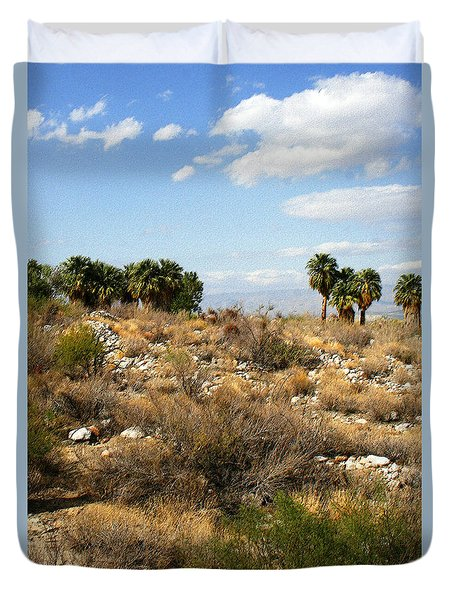 Palm Springs Indian Canyons View  Duvet Cover by Ben and Raisa Gertsberg