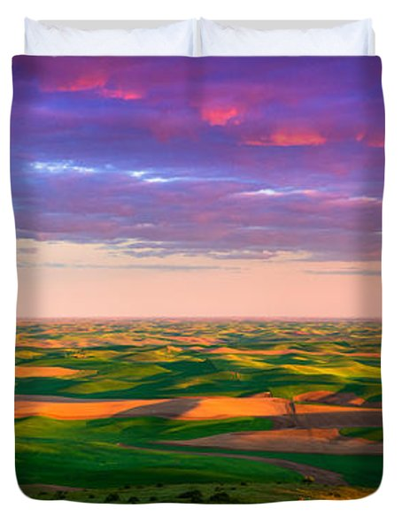 Palouse Land and Sky Duvet Cover by Inge Johnsson