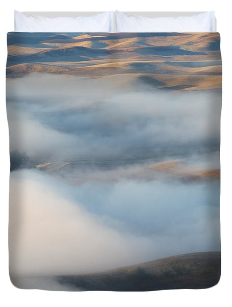 Palouse Morning Mist Duvet Cover by Mike  Dawson