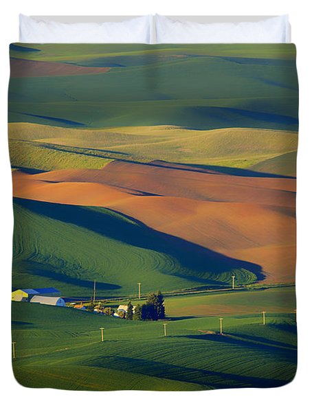 Palouse - Washington - Farms - #1 Duvet Cover by Nikolyn McDonald