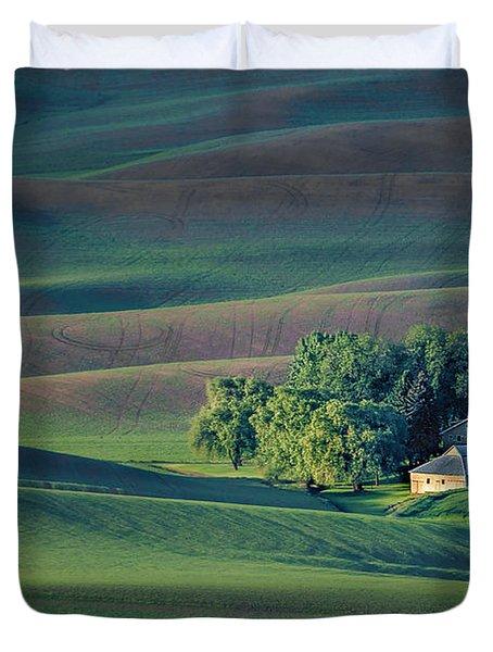 Palouse - Washington - Farms - #3 Duvet Cover by Nikolyn McDonald