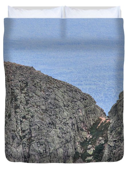 Pamola And Chimney Peaks Duvet Cover by Lori Deiter