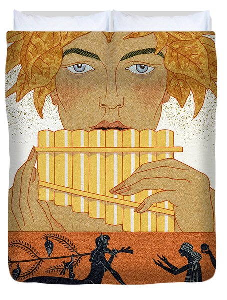 Pan Piper Duvet Cover by Georges Barbier