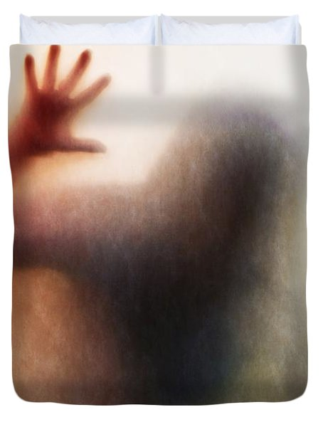 Panic Silhouette Duvet Cover by Carlos Caetano