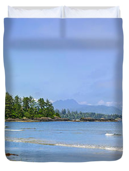 Panorama of Pacific coast on Vancouver Island Duvet Cover by Elena Elisseeva
