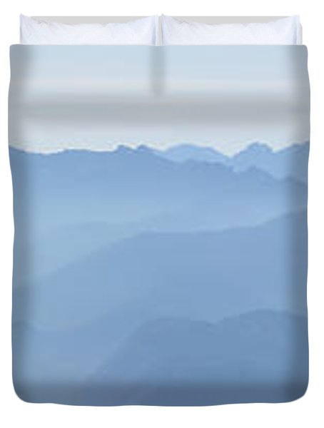 Panorama View Of The Bavarian Alps Duvet Cover by Rudi Prott