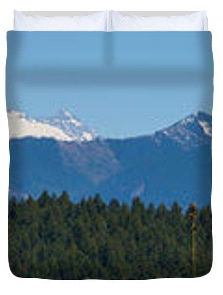 Panoramic Rainier Rt.25 Duvet Cover by Tikvah's Hope