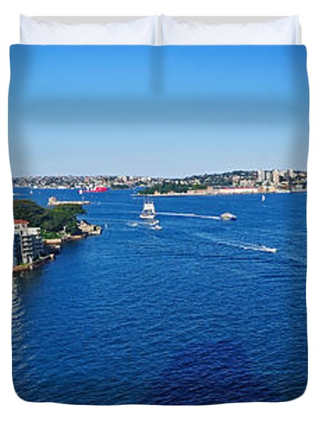 Panoramic Sydney Harbour Duvet Cover by Kaye Menner
