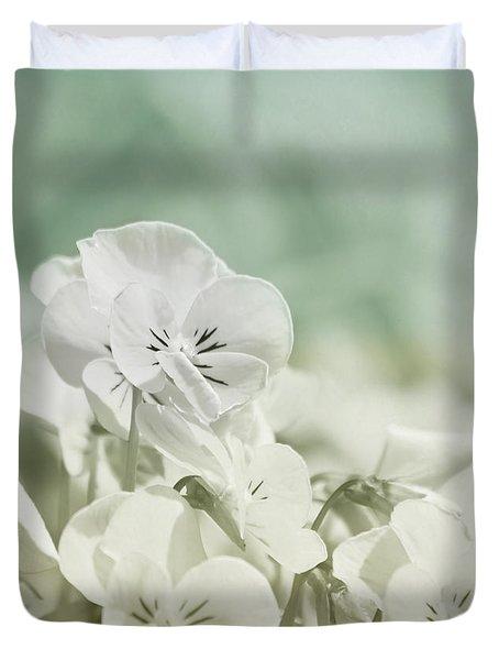 Pansy Flowers Duvet Cover by Kim Hojnacki