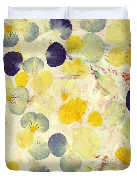 Pansy Petals Duvet Cover by James W Johnson