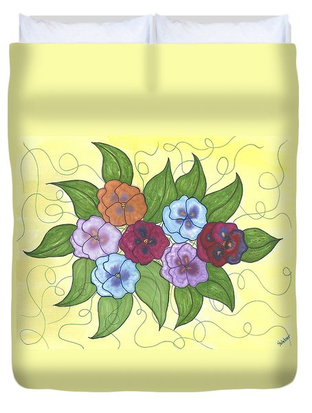 Pansy Posy Duvet Cover by Susie WEBER