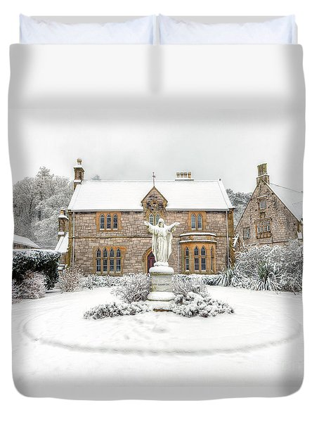 Pantasaph Friary Duvet Cover by Adrian Evans