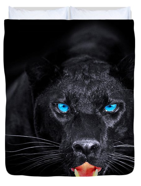Panther Duvet Cover by Jean raphael Fischer