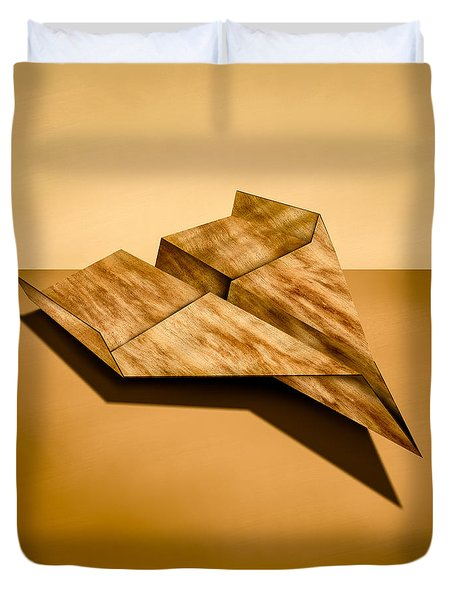 Paper Airplanes of Wood 5 Duvet Cover by Yo Pedro