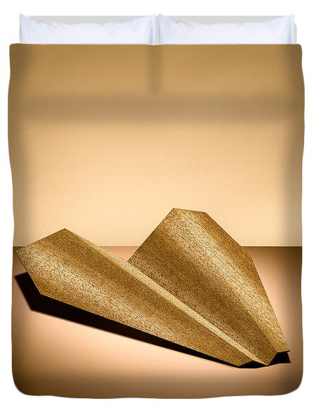 Paper Airplanes Of Wood 6 Duvet Cover by Yo Pedro