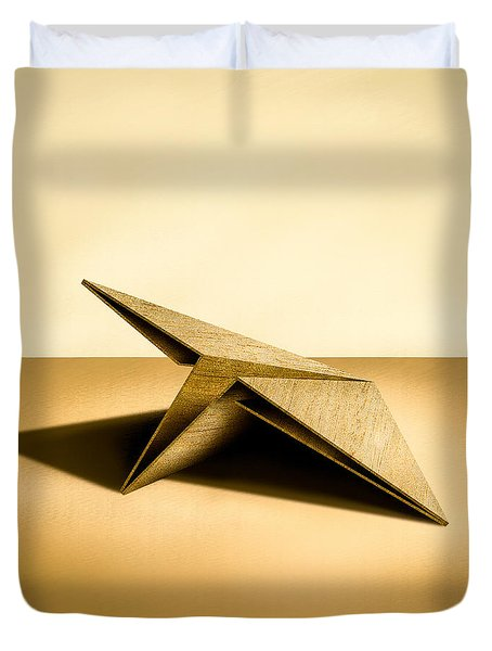 Paper Airplanes Of Wood 7 Duvet Cover by YoPedro