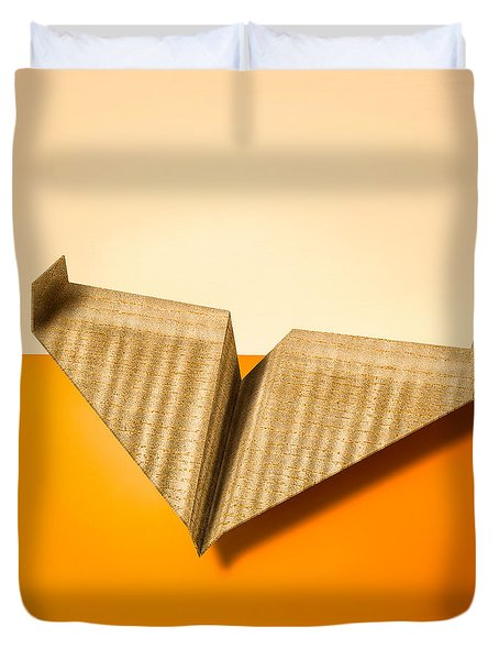 Paper Airplanes Of Wood 8 Duvet Cover by Yo Pedro