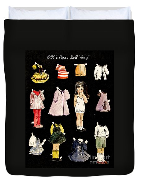 Paper Doll Amy Duvet Cover by Marilyn Smith